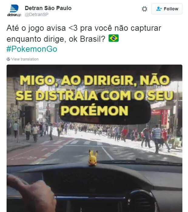 Detran SP - Pokémon Go