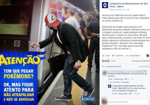 Metrô SP - Pokémon Go