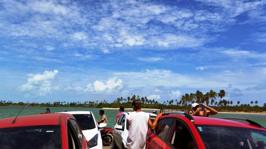 Viagem de carro na Rota Ecológica Alagoas